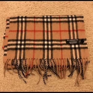 Burberry The Classic Check Cashmere Scarf- Camel
